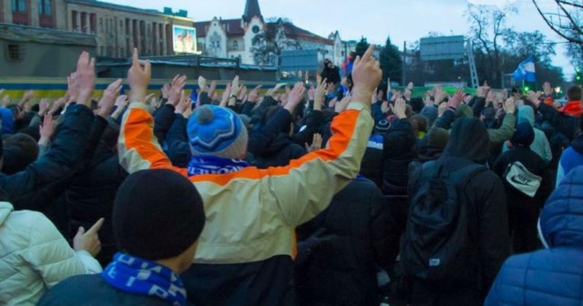 """Спільний марш фанатів """"Дніпра"""" та """"Шахтаря"""". @ ultras.org.ua"""