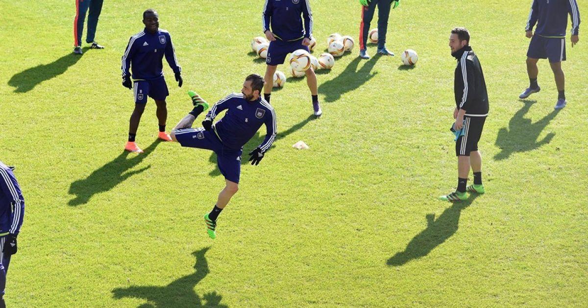"""16 березня. Брюссель. Стадіон """"Констант Ванден Сток"""".""""Андерлехт"""" провів відкрите тренування перед матчем з """"Шахтарем"""". @ rsca.be"""