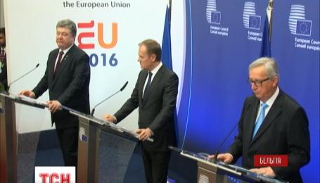 В Брюсселе закончились переговоры Порошенко с Меркель и Олландом