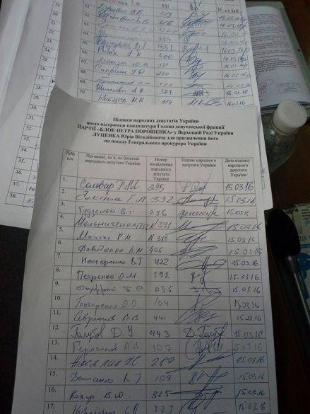 підписи за леценка-прокурора