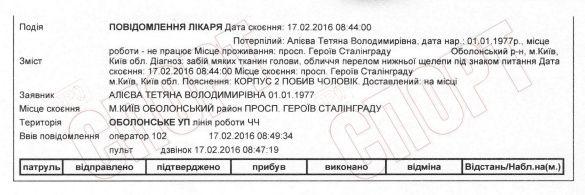 Олександр Алієв побив дружину документи зняття побоїв