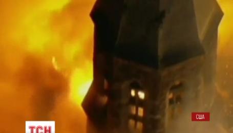 Огонь уничтожил древнюю церковь в американском Нью-Джерси
