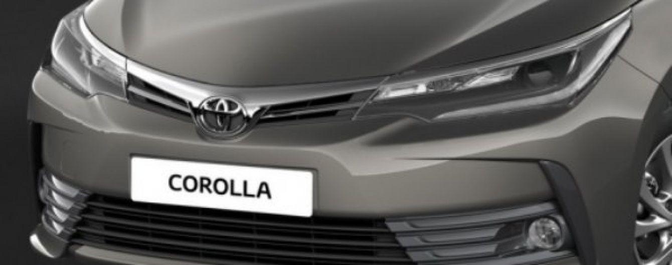 Toyota рассекретила европейскую версию обновленного седана Corolla
