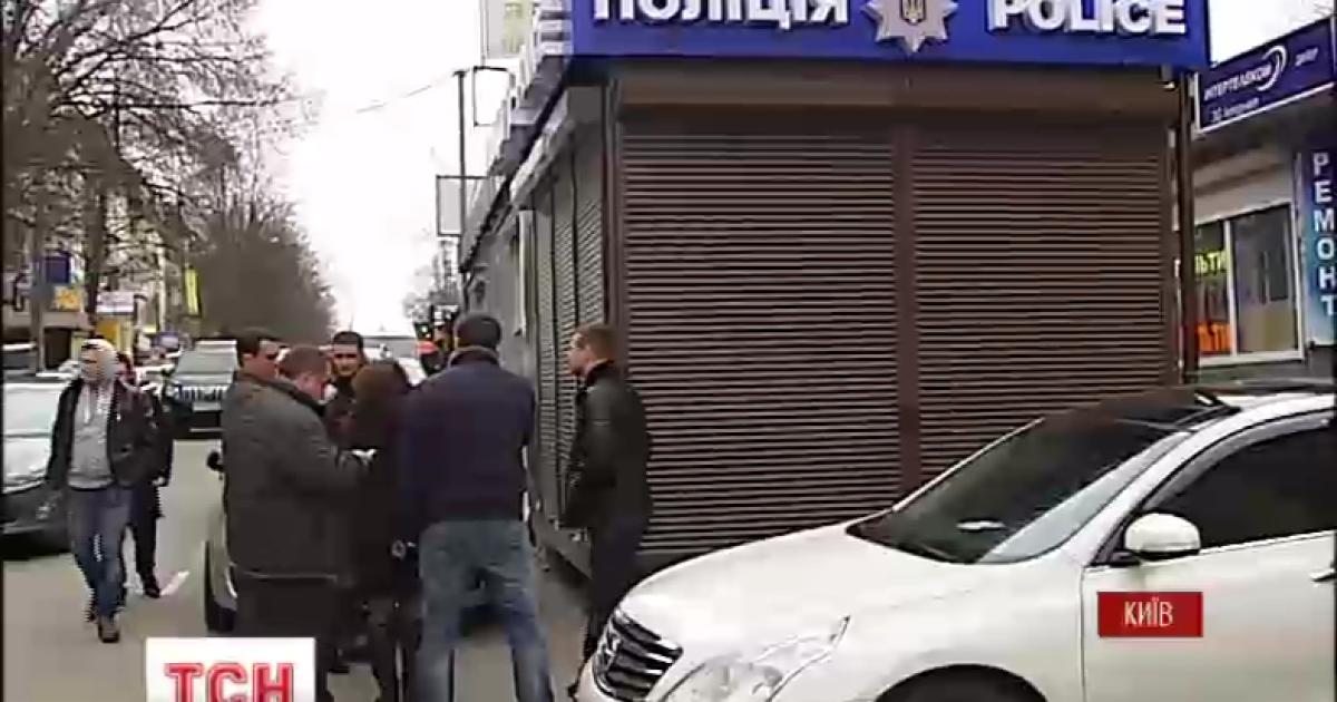 В Киеве на рынке появился полицейский МАФ