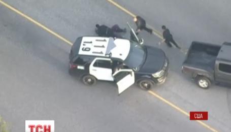 В Калифорнии во время задержания подозреваемая пыталась украсть машину полиции