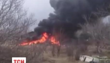 Военный самолет упал на частный сектор в Приморском крае России