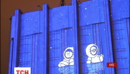 """Эффектным световым 3D-шоу в Киеве стартовала """"Французская весна"""""""
