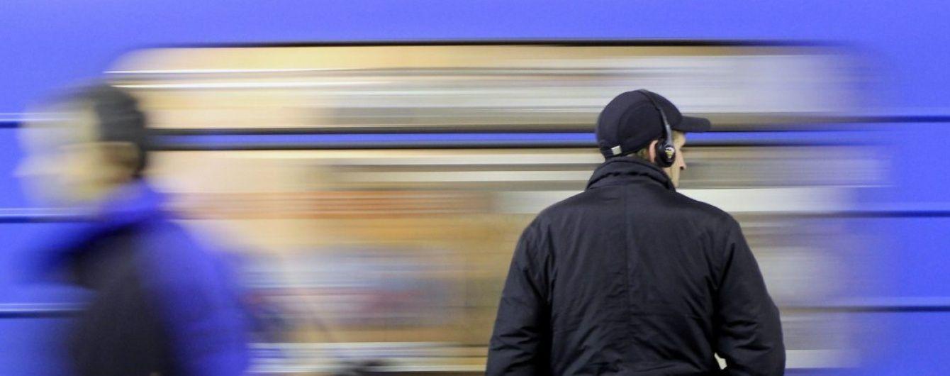 В Киеве поезд метро сбил пьяного мужчину