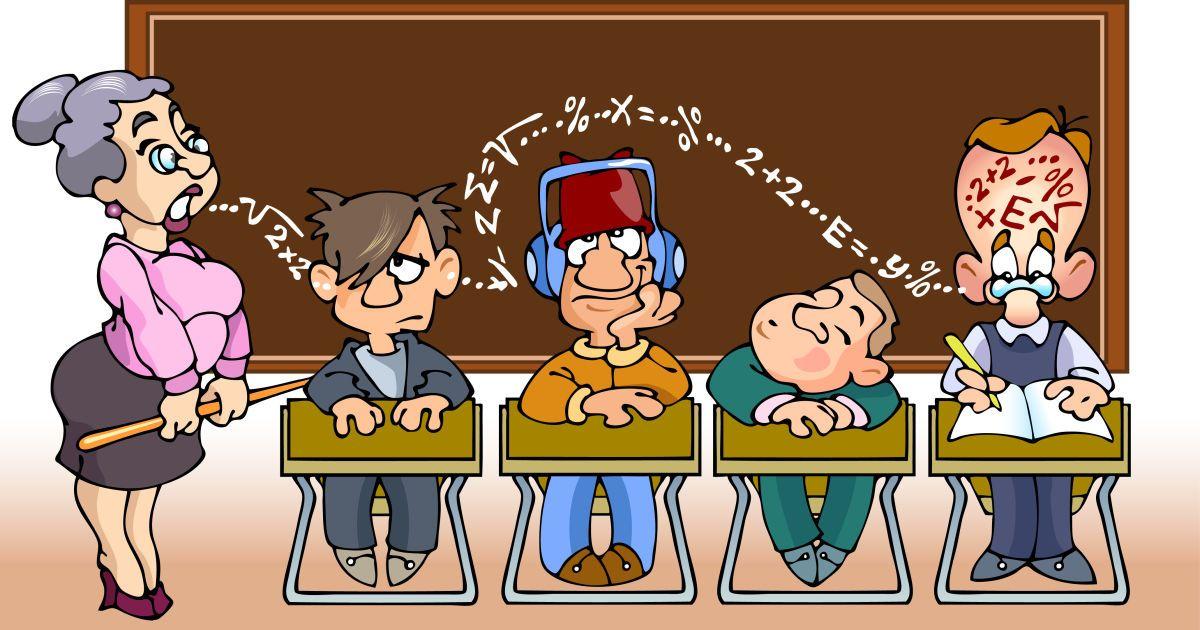 Рисунки смешной школы