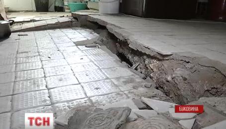 Совет Черновцов примет решение о поврежденных оползнем домах после экспертиз