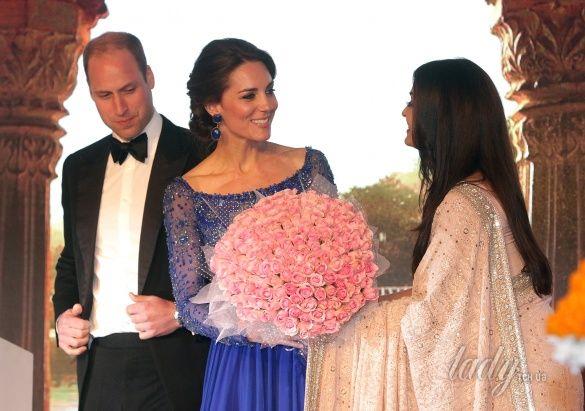 Герцогиня Кембриджская и принц Уильям в Индии_5