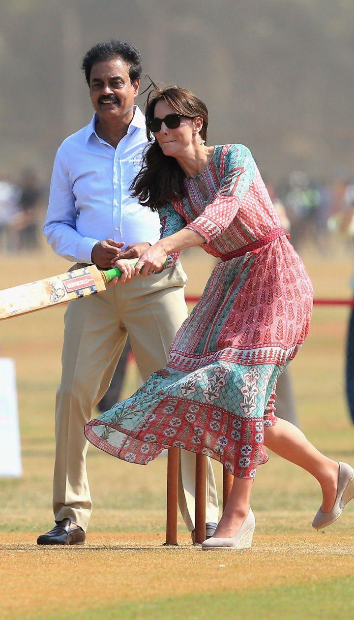 Герцогиня Кембриджская и принц Уильям в Индии