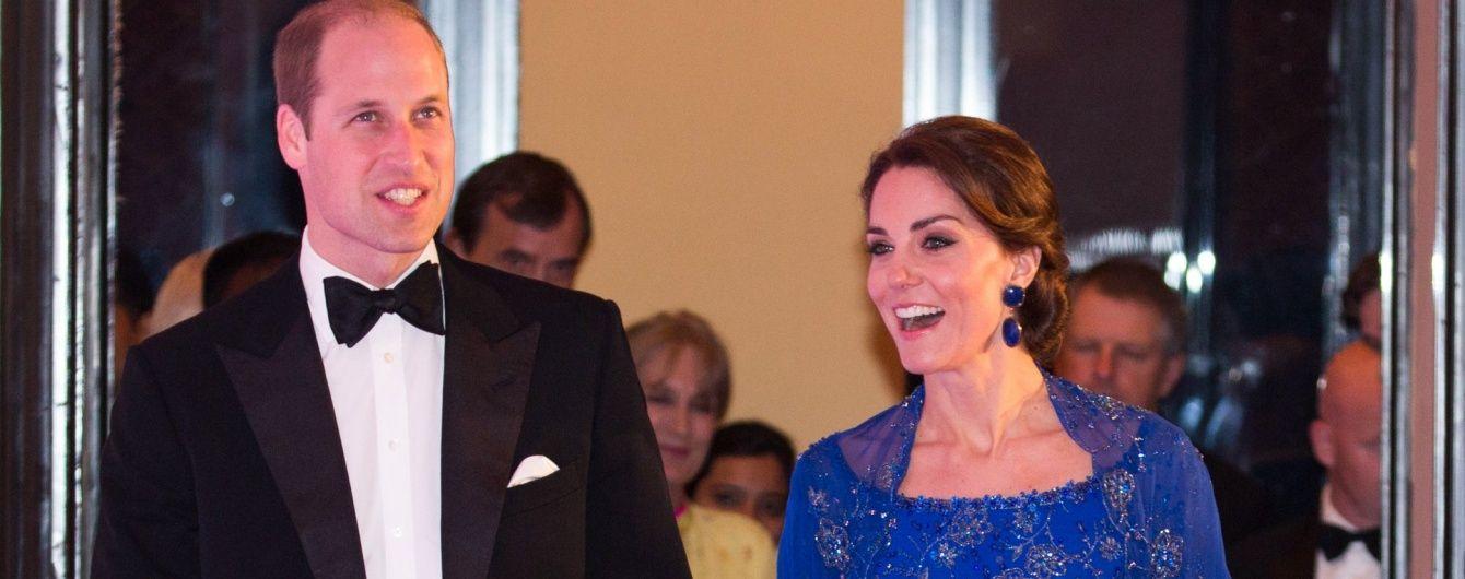 Герцог и герцогиня Кембриджские на торжественном приеме в Индии