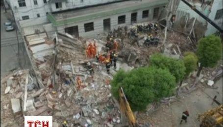 В Китае обрушился жилой дом
