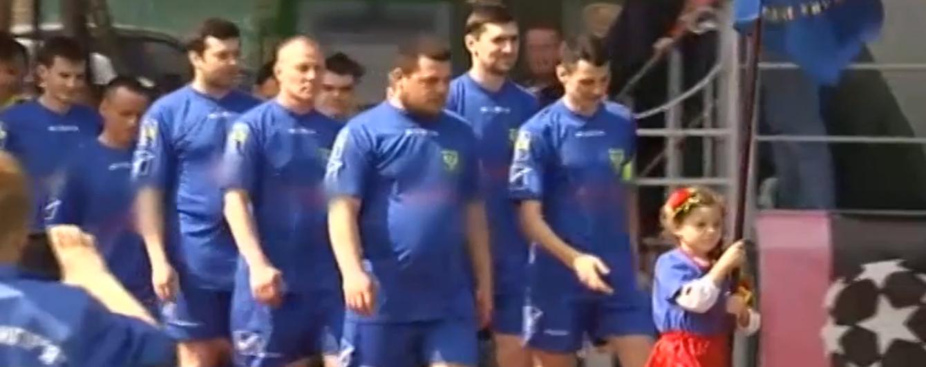 Бійці провели перший футбольний матч у Лізі учасників АТО