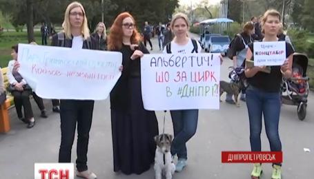 В Днепропетровске зоозащитники атаковали передвижной цирк