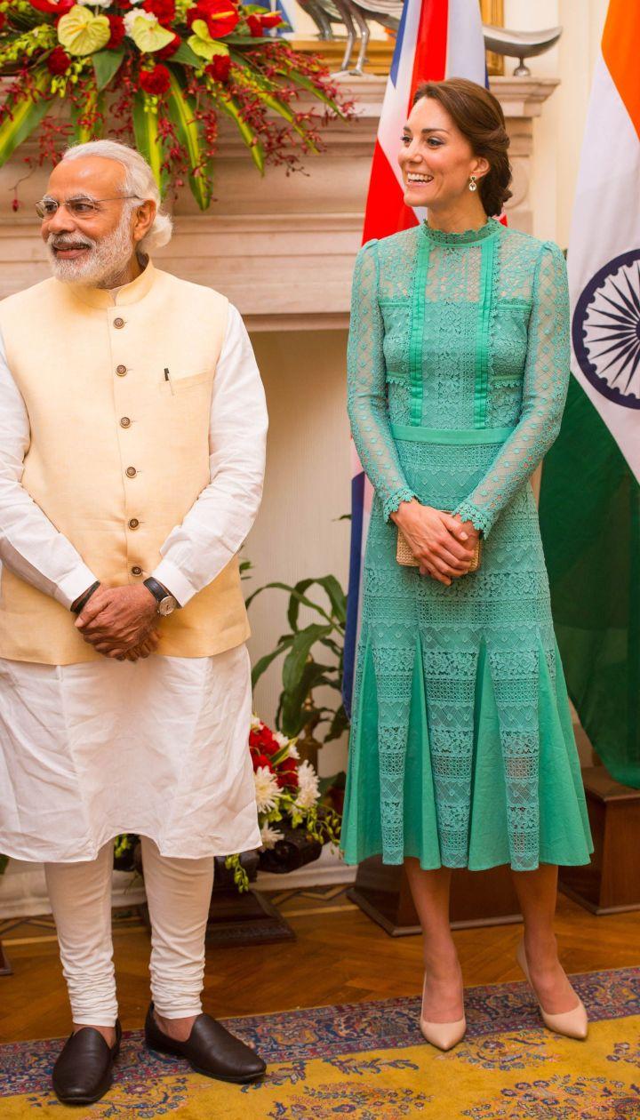 Герцогиня Кембриджская и премьер-министр Индии @ Getty Images