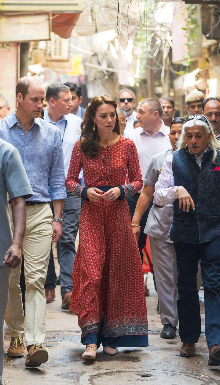 Герцогиня Кембриджская и принц Уильям в Индии @ Getty Images