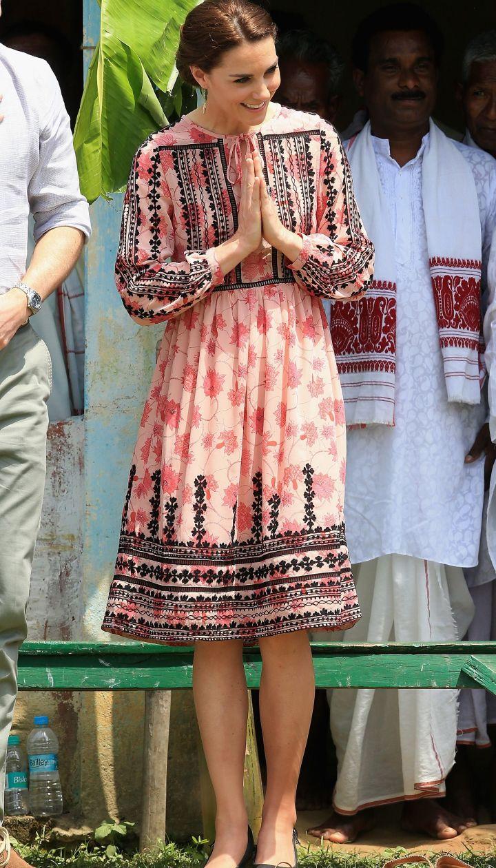 Герцогиня Кембриджская и принц Ульям в индийской деревне @ Getty Images