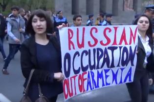 Российское посольство снова забросали яйцами. На этот раз в Армении