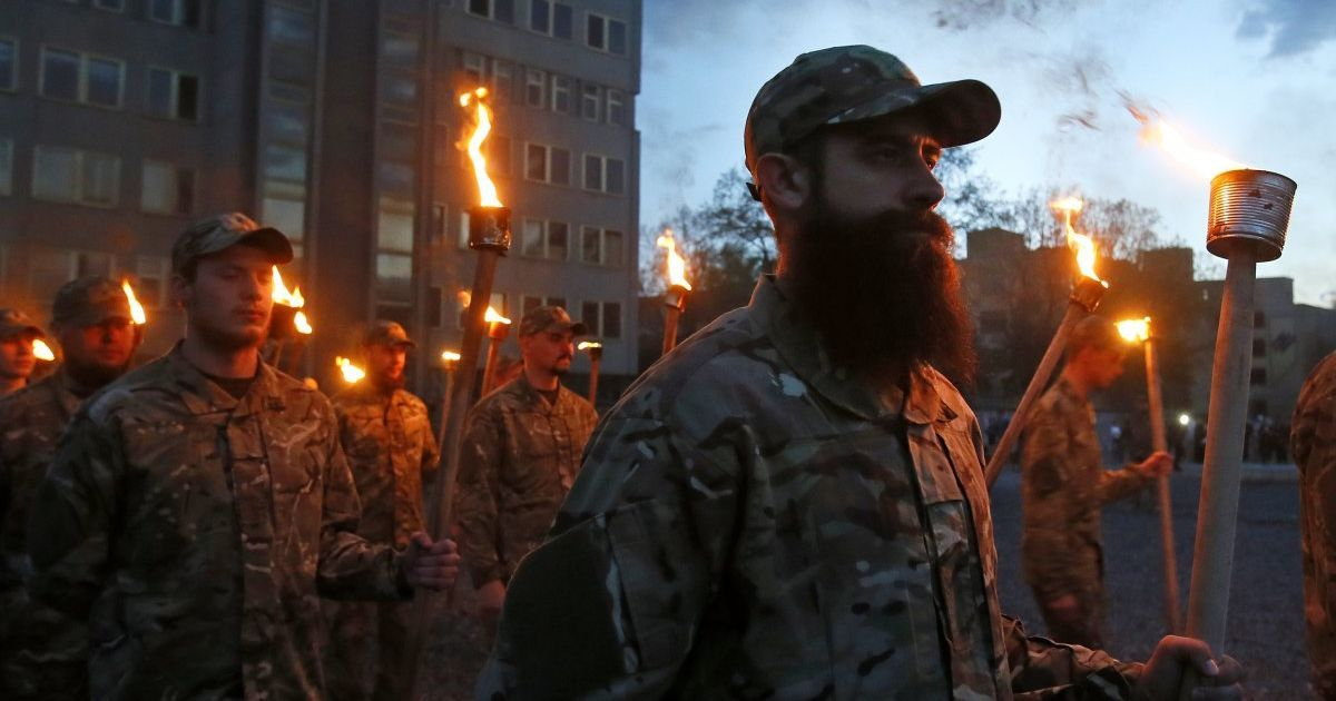 """Урочисте відкриття школи сержантів полку """"Азов"""" у Києві. @ УНІАН"""