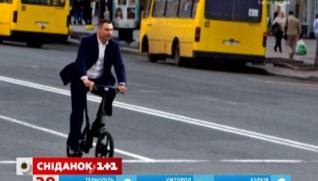Пользователи активно обсуждают поездку Виталия Кличко на дорогом велосипеде