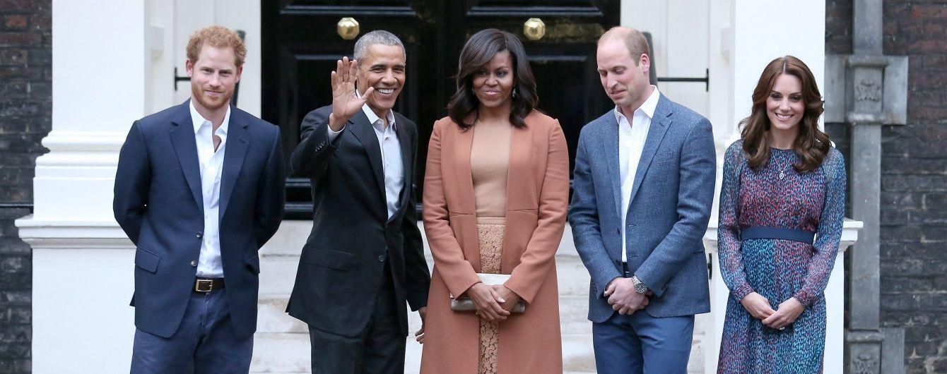 Барак Обама с супругой Мишель побывали в гостях у Кембриджей