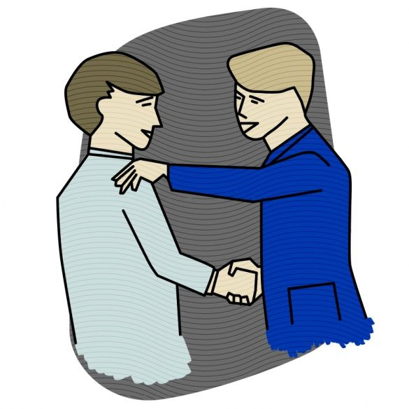 Рукостискання, ілюстрації для блогів_9