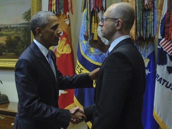 Обама, Яценюк. 2015 рік