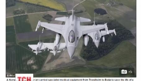 Истребитель военно-воздушных сил Норвегии спас жизнь пациенту