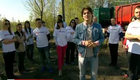 Команда 1+1 медиа собрала семь тонн мусора возле озер на Осокорках
