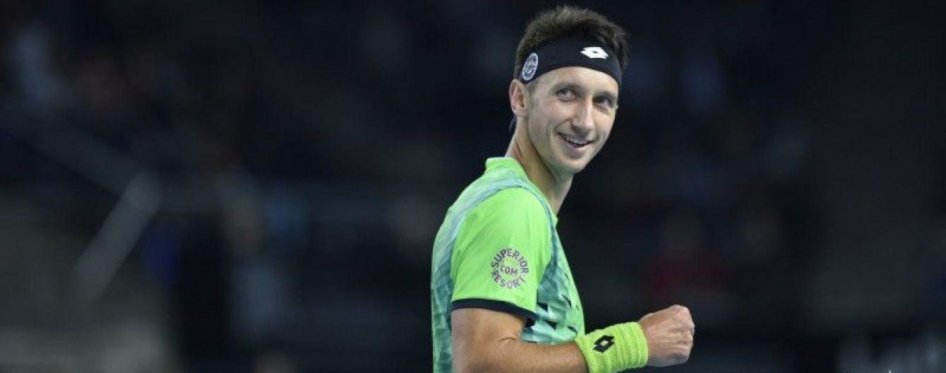 Украинский теннисист Стаховский пробился в четвертьфинал турнира в Тайбэе