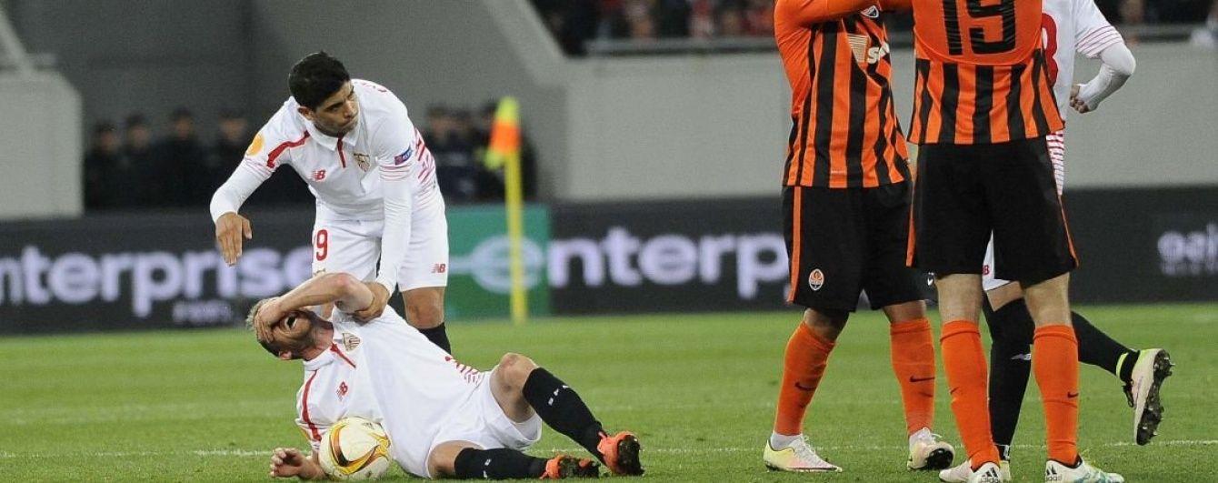 """Футболіст """"Севільї"""" вилетів на 8 місяців через жахливу травму у матчі з """"Шахтарем"""""""