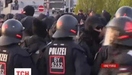 В Штутгарте активисты попытались сорвать съезд правой партии