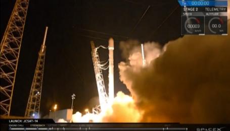 SpaceX успішно посадила ракету на платформу