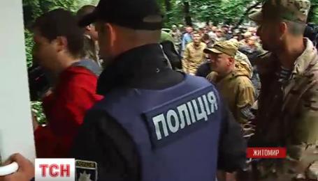 В Житомире произошло столкновение между бойцами АТО и охранниками частной фирмы