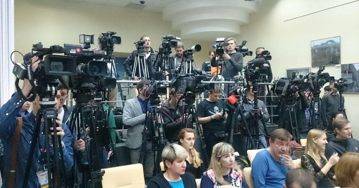 Джамала дала прес-конференцію в Києві @ Фото Івана Воробйова/ТСН