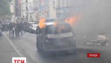 В Париже митинг полицейских закончился погромом