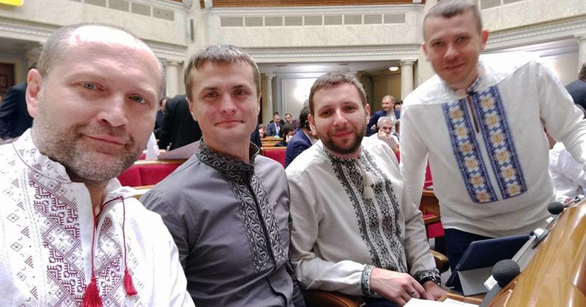 Зліва направо: Борислав Береза, Ігор Луценко, Володимир Парасюк та Іван Крулько.