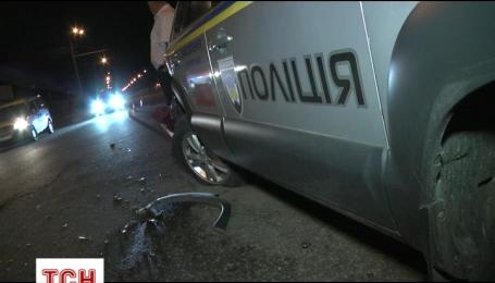 ДТП с участием полицейского автомобиля произошло в Киеве