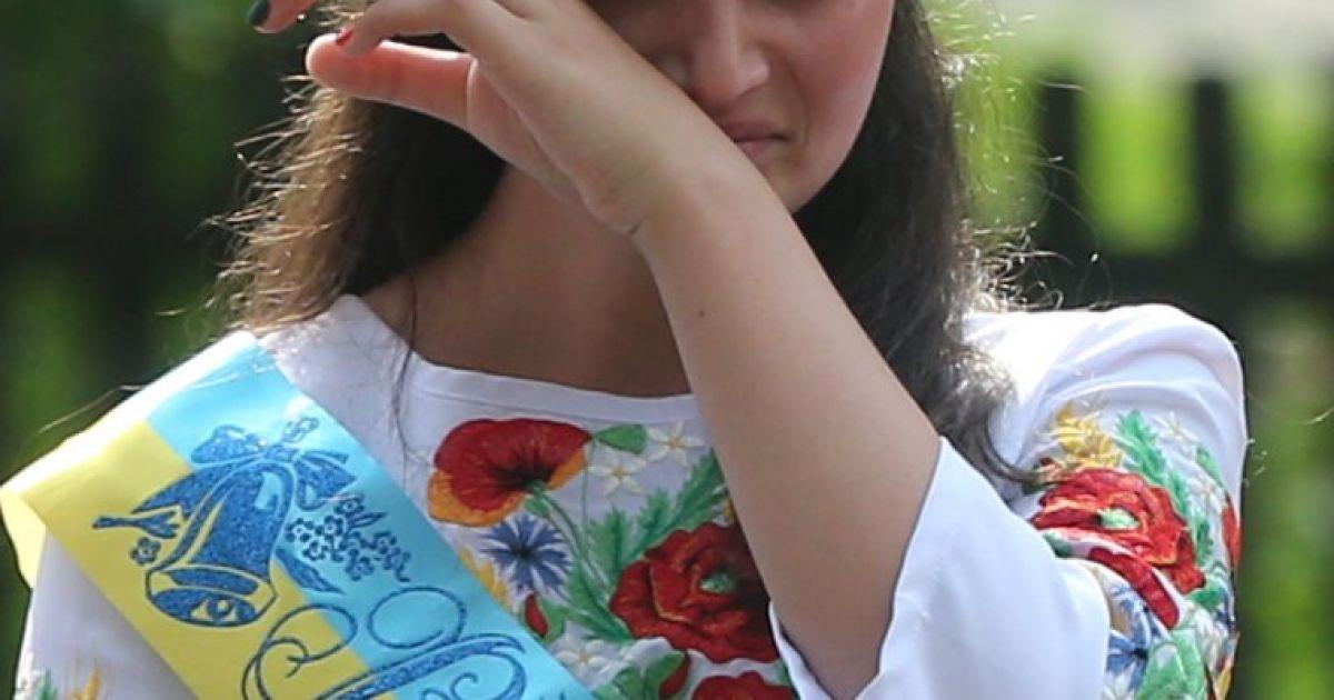 Учениця школи с. Мощун на Київщині