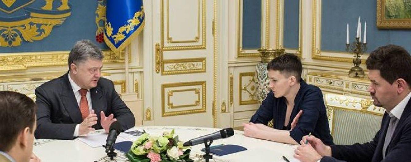 Савченко рассказала подробности последней встречи с Порошенко