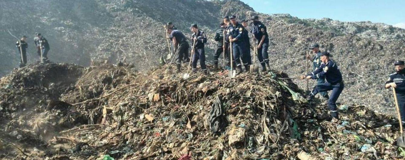 Біля підніжжя Грибовицького смітника припинили роботи через загрозу нових обвалів