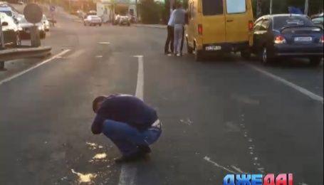 В драку со стрельбой перерос спор на столичной дороге