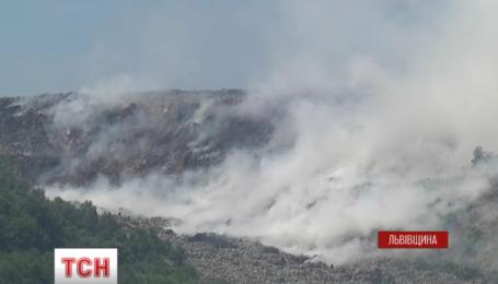 Очередной пожар произошел на Грибовицкой свалке