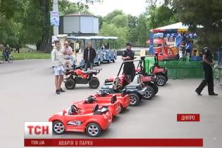 У парку Дніпра квадроцикл збив 1,5-річну дитину