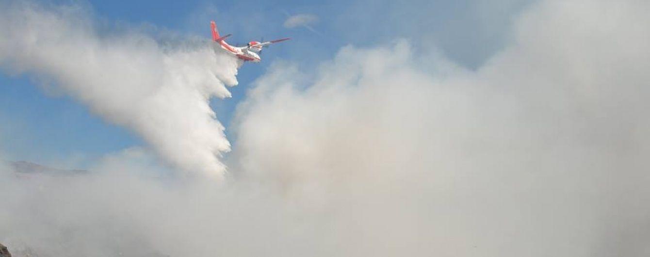Пожежна авіація призупинила роботу на Грибовицькому сміттєзвалищі