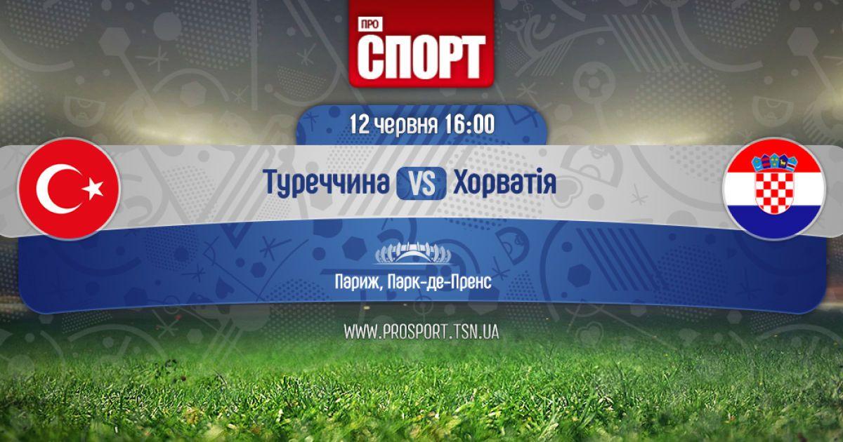 Туреччина - Хорватія. Онлайн-трансляція матчу Євро-2016