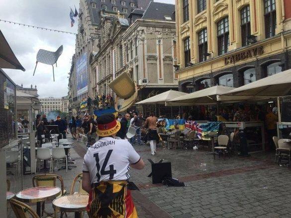 Бійка німців та українців