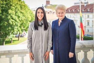 Джамала зустрілася із президентом Литви Далею Грибаускайте